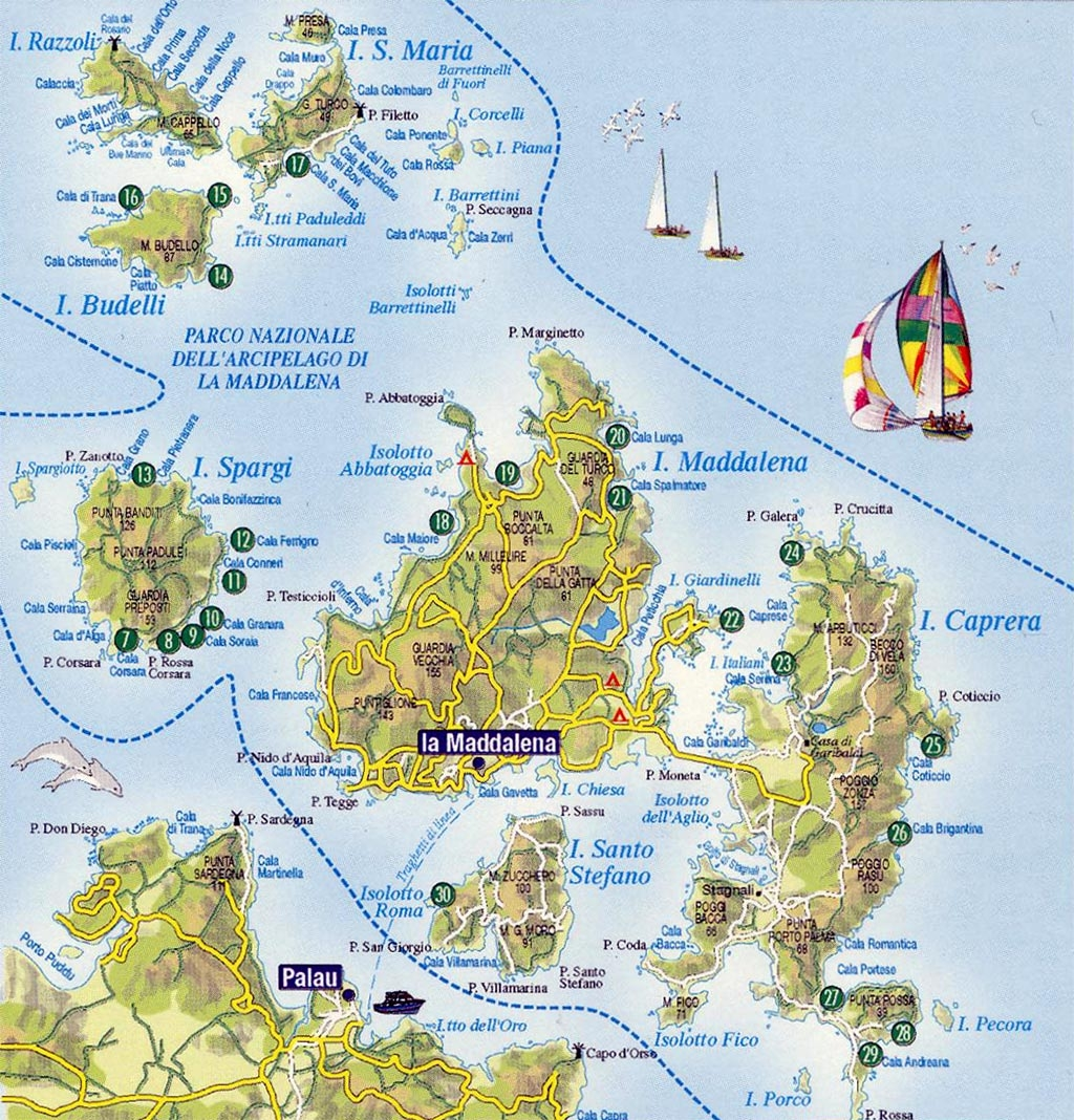 Spiagge Sardegna Cartina.Vacanze E Campeggi E Villaggi Sardegna