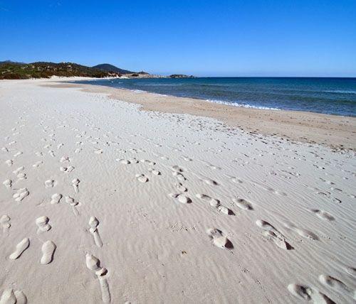 la spiaggia di Chia a Domus de Maria