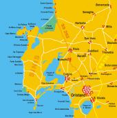 cartina spiagge della costa oristanese