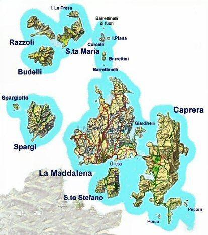 Cartina Spiagge Sardegna Nord.Palau Santa Teresa Gallura E L Arcipelago Della Maddalena Gallura