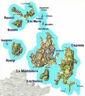 cartina dell'Arcipelago della Maddalena