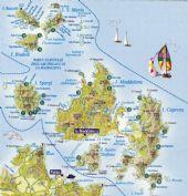 Arcipelago della Maddalena - mappa