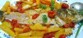 Spigola con Patate Pomodorini e Zafferano