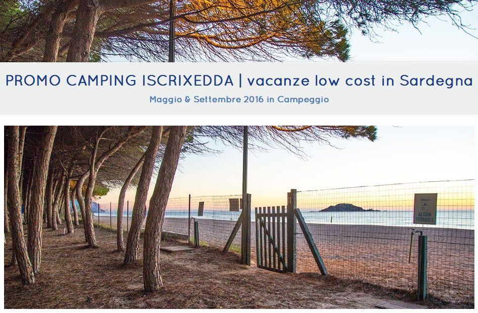 PROMOZIONI 2018 CAMPING VILLAGE ISCRIXEDDA
