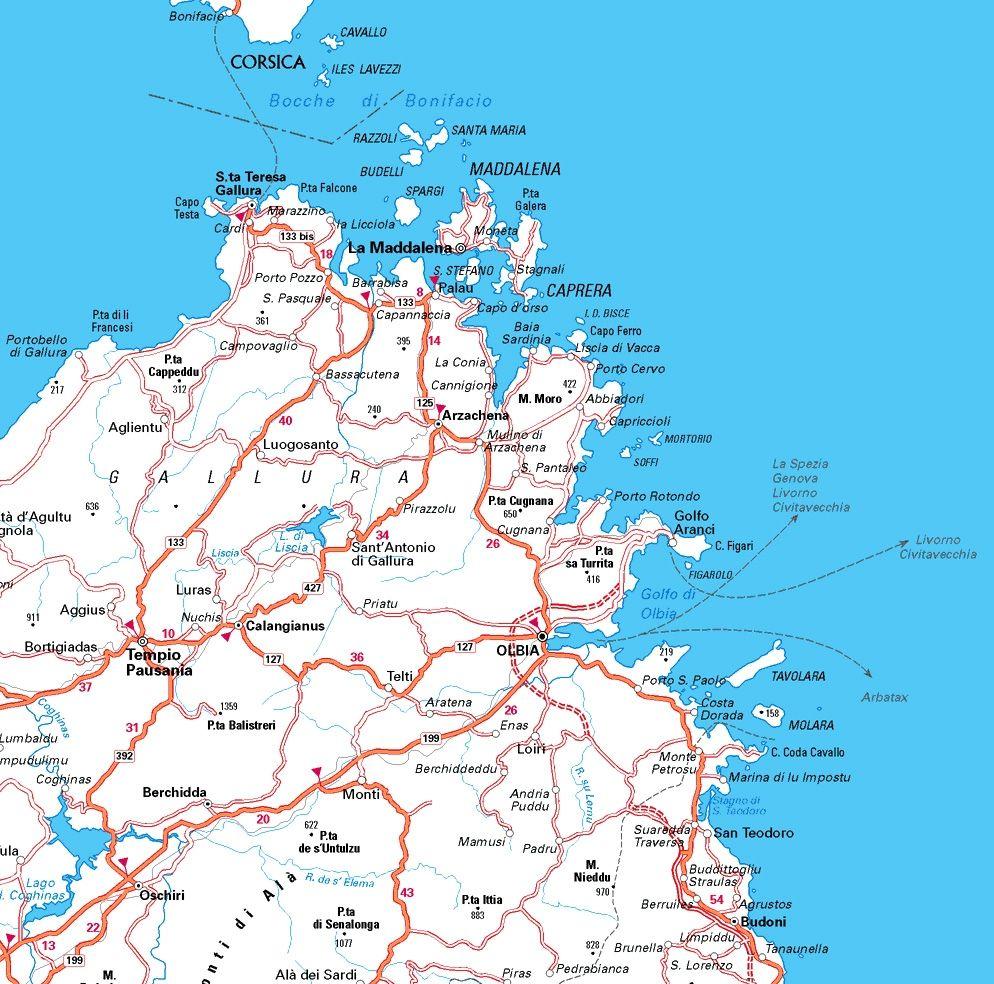 Cartina Nord Sardegna.Danubio America Uragano Mappa Villaggi Sardegna Amazon Settimanaciclisticalombarda It