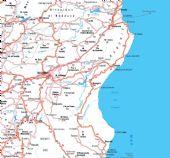 cartina del Nuorese