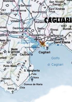Cartina Sardegna Pula.Itinerari Nella Costa Del Sud Cagliaritano Sardegna Pleinair